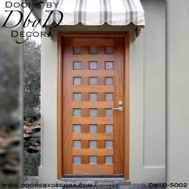 modern wood and glass door