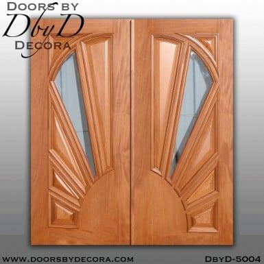 modern sunburst panel doors