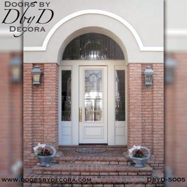modern leaded glass door unit