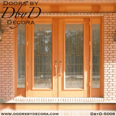 modern double doors and side lites