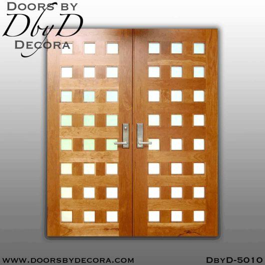 modern 24 lite double doors