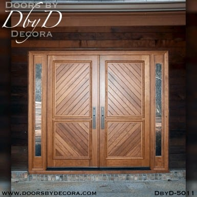 modern solid double doors