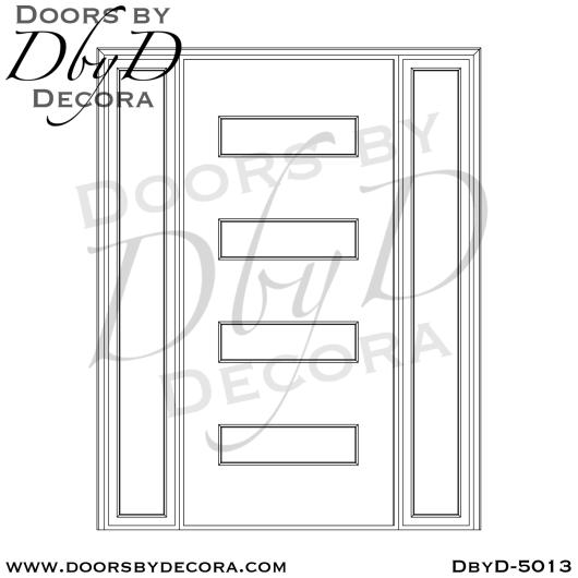 modern 4 horizontal lite door