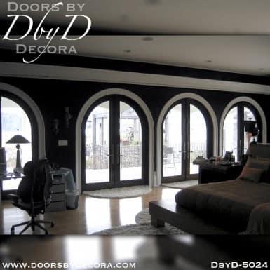 modern radius double doors