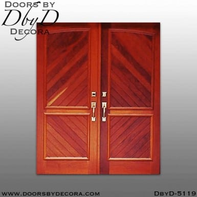 modern v-groove panel double doors