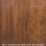 alder door stained with american walnut stain