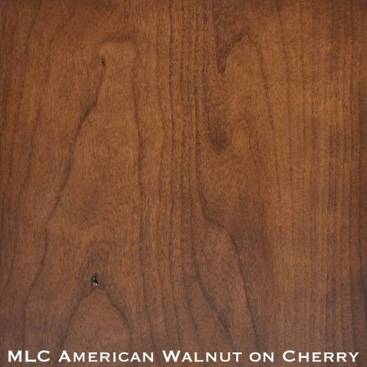 cherry door stained with american walnut stain