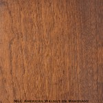 mahogany door stained with american walnut