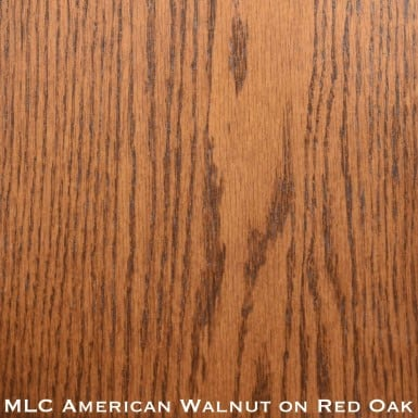 red oak door stained with american walnut stain
