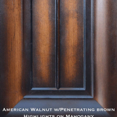 mahogany door with specialty stain and highlights