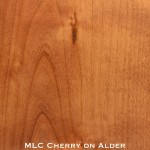 alder door stained with cherry stain