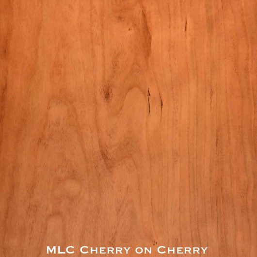 cherry door stained with cherry stain