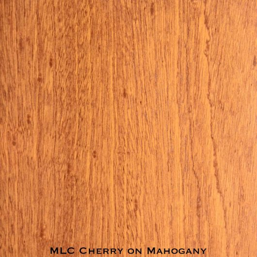 mahogany door stained with cherry stain