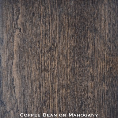 mahogany door stained with coffee bean stain