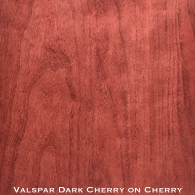 cherry door stained with dark cherry stain