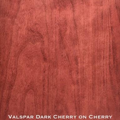 cherry door stained with dark cherry stain