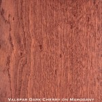 mahogany door stained with dark cherry stain