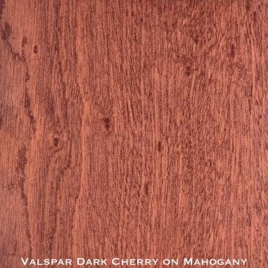 mahogany door stained with dark cherry stain