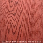 red oak door stained with dark cherry stain