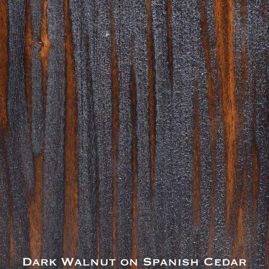 spanish cedar door stained with dark walnut stain