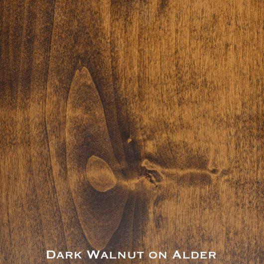 alder door stained with dark walnut stain
