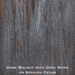 spanish cedar door stained with dark walnut stain wash