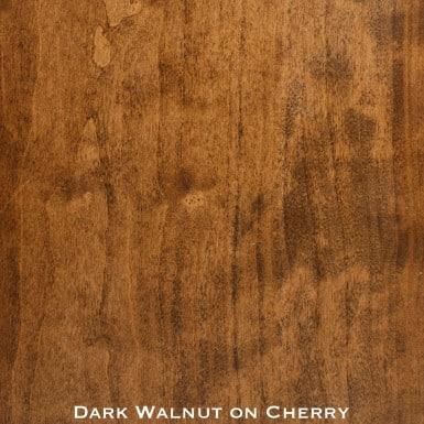 cherry door stained with dark walnut stain