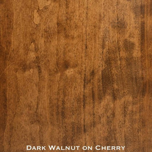 cherry door stained with dark walnut stain