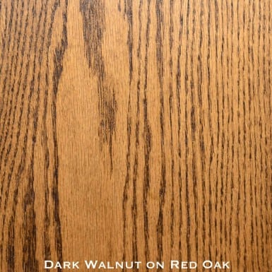 red oak door stained with dark walnut stain