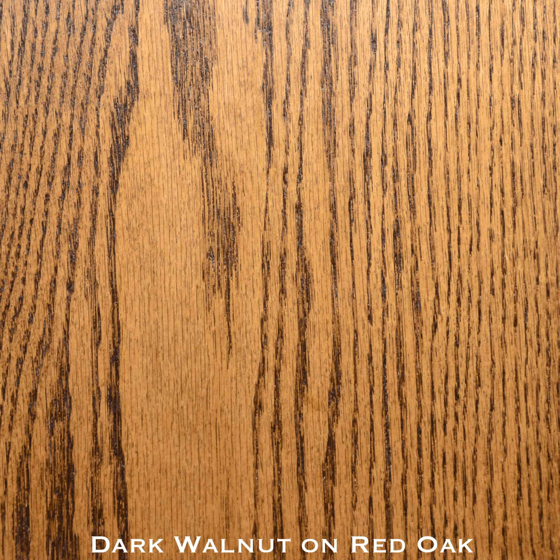 Red Oak Door Stained With Dark Walnut