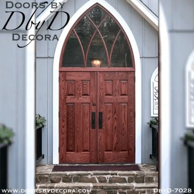 church solid cross doors and cathedral transom
