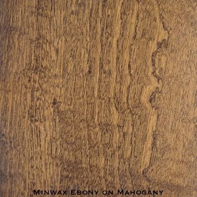 mahogany door stained with ebony stain