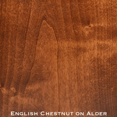 alder door stained with english chestnut stain