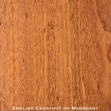 mahogany door stained with english chestnut stain