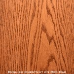 red oak door stained with english chestnut