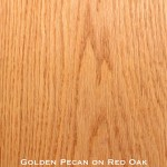 red oak door stained with golden pecan stain