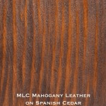 spanish cedar door stained with mahogany leather