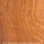 mahogany door stained with mahogany leather stain