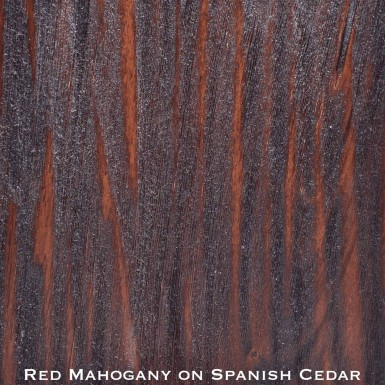 spanish cedar door stained with red mahogany stain