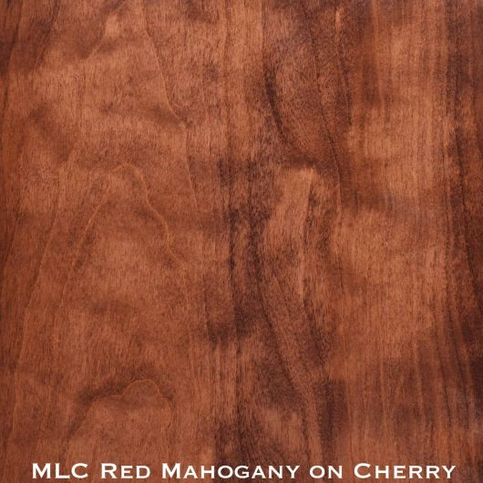 cherry door stained with red mahogany stain