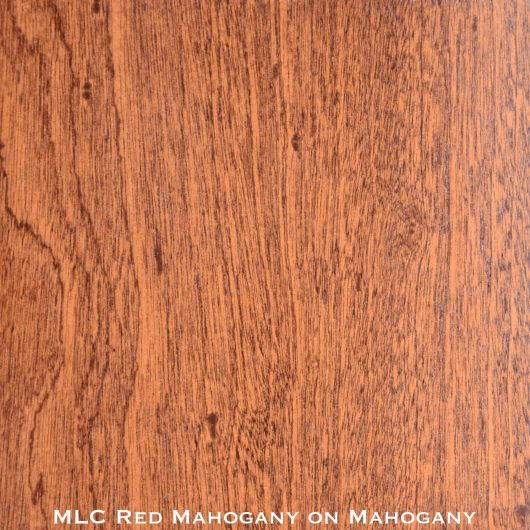 mahogany door stained with red mahogany stain