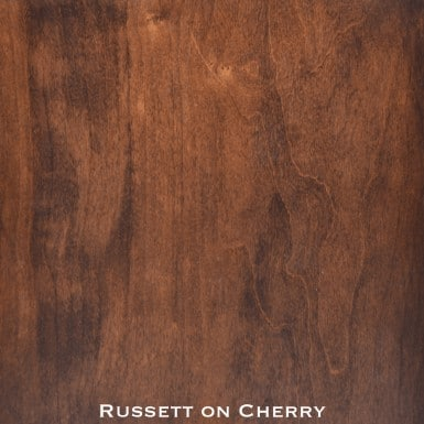 cherry door stained with russet stain