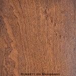 mahogany door stained with russett