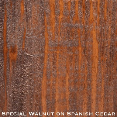 spanish cedar door stained with special walnut stain