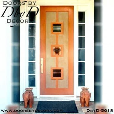 modern 2 lite wood door