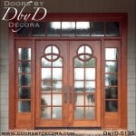 modern double doors with sidelites and transom
