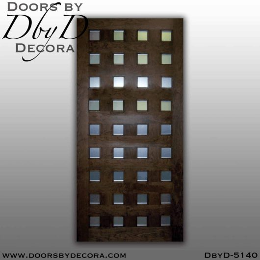 modern door with metal panels