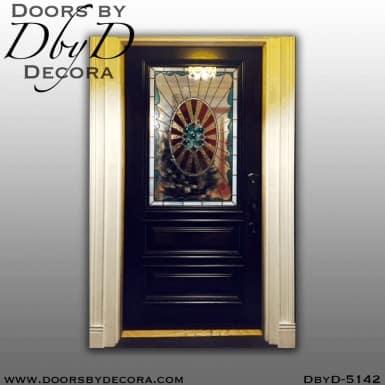 modern door with art deco glass