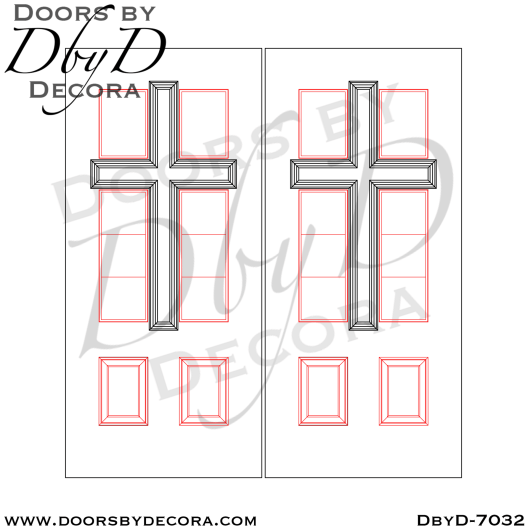 church double cross doors with glass