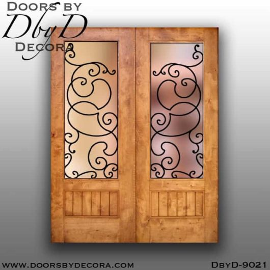 specialty double barn doors with iron